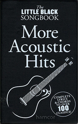 More Acoustic Hits The Little Black Songbook Guitar Chord Music Song Book