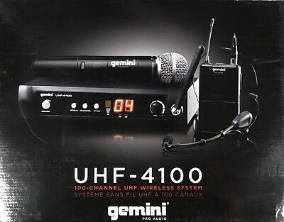 Gemini - UHF-4100M - Wireless Single Microphone Transmitter/Reciever System