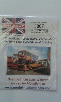 Southern Vectis Lettering, Transfers sheet - Modelmaster MM5887 L1
