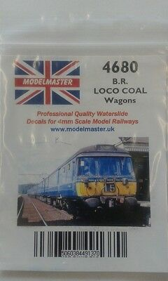 Decals for BR 1948-68 Loco Coal wagons - Modelmaster MM4680 L1
