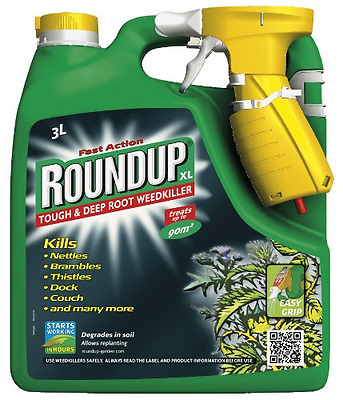 Roundup - Tough Weedkiller Spray - With PUMP - (Ready to Use) -  3 L