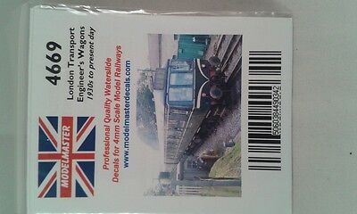 Decals for London Transport Engineer's wagons (1930s-) Modelmaster MM4669 L1
