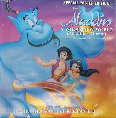 """ALADDIN - A Whole New World (Theme) - 7"""" Vinyl Single - Special Poster Edition"""
