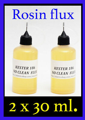 60 ml.  KESTER 186   Soldering Solder Liquid Flux Reflow   NO CLEAN ROSIN FLUX