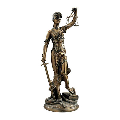 "Themis Ancient Greek Mythology Goddess Of Justice Large 36½"" Elegant Sculpture"