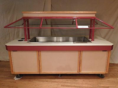 Amtekco Lighted Non-refrigerated Buffet Salad Bar w/ Sneeze Guard