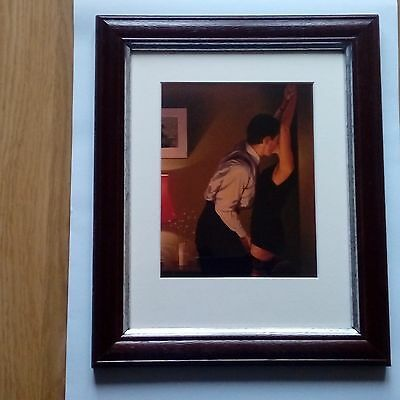 """NEW  WOODEN FRAME Jack Vettriano Framed Mounted art Print  """" GAME ON """""""