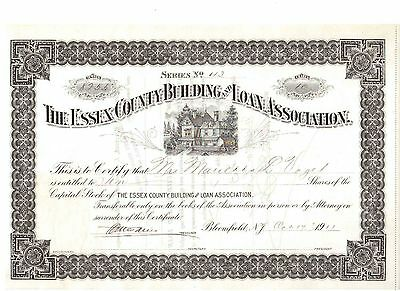 Essey County Building and Loan Association  1911  USA