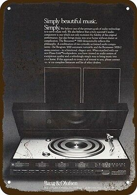 1976 BANG & OLUFSEN BEOCENTER 3500 STEREO Vintage Look REPLICA METAL SIGN