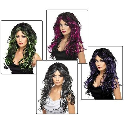 Gothic Wig Adult Witch Vampire Halloween Costume Fancy Dress