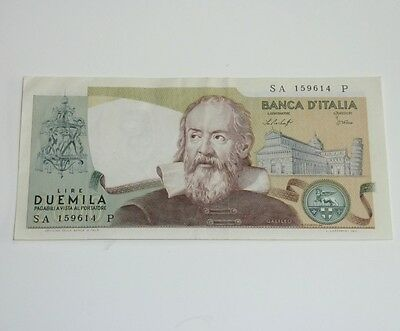 Vintage Italy Italian Lire Banknote 1973 Pre-euro currency money Bank note