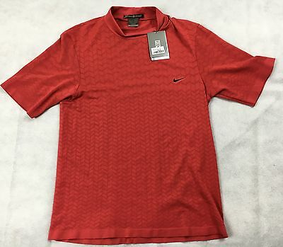 Nike Golf Tiger Woods TW Mock Neck Top - Sunday Red - XL - Tagged at £45!