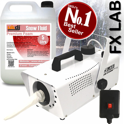 FXLab Artificial Snow Effects Machine 600w Party Snowflake inc 5L Fluid GRADED