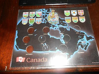Nice 1999 Millennium Canada Quarter Holder Map Of Canada  With Plastic Cover New