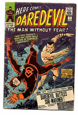 DAREDEVIL  7 VG- 1964 1st RED COSTUME