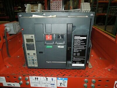 Sq D NW40H2 Masterpact Breaker 4000A 3P 600V 6.0A Trip LSIG MO/FM Used Tested