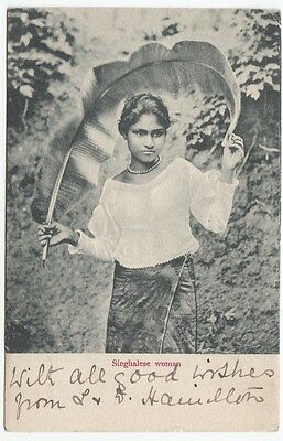 PPC: Young Singhalese woman, 1903