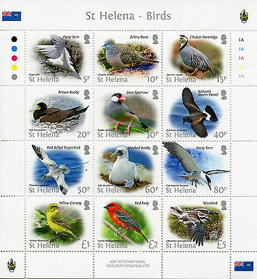 St Helena 2015 MNH Bird Definitives 12v M/S Birds Tropicbird Booby Terns Stamps