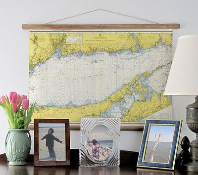 Eastern Long Island Sound Nautical Chart, c. 1958 Maritime Decorative Chart