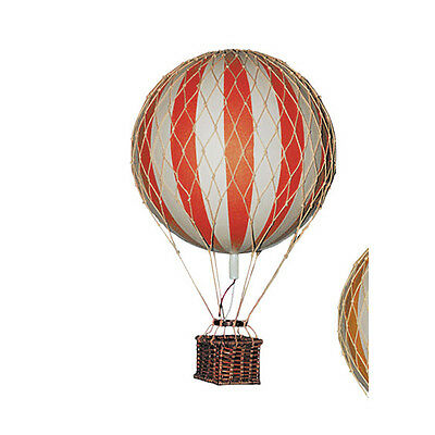Hot Air Balloons Home Decor Floating the Skies Set of 2 Red & Blue Colors