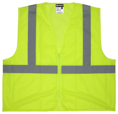 Class 2 High Visibility Construction Safety Traffic Vest Reflective Sizes M-4Xl