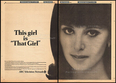 This Girl is_THAT GIRL__Original 1966 Trade AD / TV series anncmt.__MARLO THOMAS