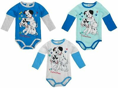 Disney Baby Body 101 Dalmatiner Bodydress Hund Weiß/Blau