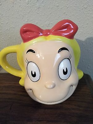 New Dr. Seuss The Grinch Who Stole Christmas Cindy Lou Who Ceramic Cup face Mug