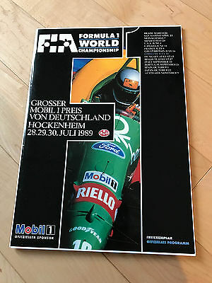 Hockenheim 1989 German Grand Prix Formula 1 Racing Official Programme - MINT