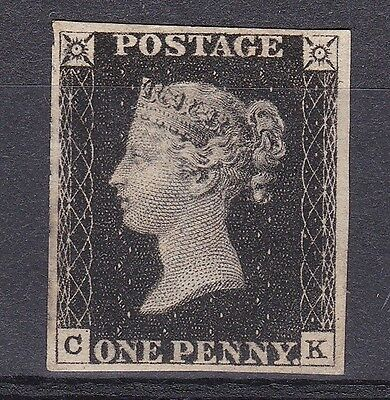 LM146) GB 1840 Mint 1d Black, plate 6, with certificate.