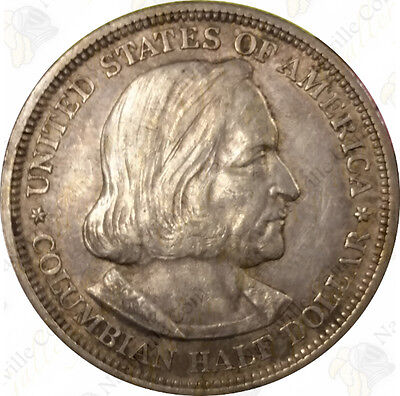 1892 or 1893 Columbian Expo Commemorative 90% Silver Half Dollar – SKU #42115