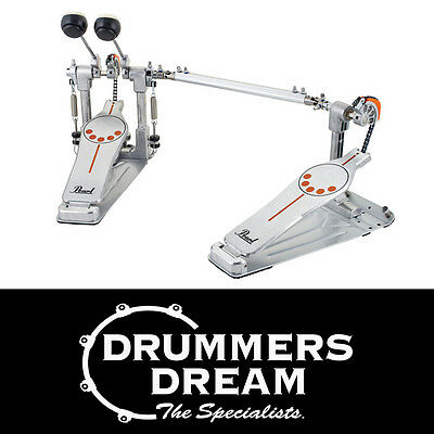 Pearl Demonator LEFT FOOTED Long Board P932L Chain Drive Double Bass Drum Pedal