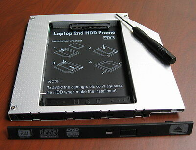 2nd SATA HDD SSD Hard Drive Caddy Adapter for Sony Vaio vpc-f24e1l vpc-eh2h1e
