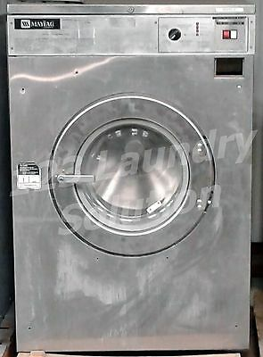 Maytag Front Load Washer OPL 50LB MFR50 3PH Stainless Steel Used