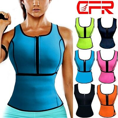 Hot Sweat Sauna Body Shaper Women Slimming Vest Thermo Neoprene Waist Trainer SF