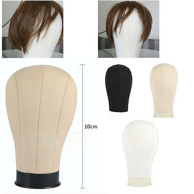 "Canvas Block Head Hairnet Extension / Wig Making Mannequin Model 20-25"" GWGW"