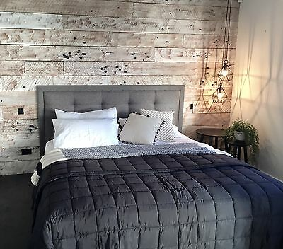 Feature Wall Cladding, DIY System - White-Washed Recycled Timber Panels