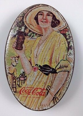 Vintage Coca-Cola Oval Shaped Tin Sewing Kit Advertising Collectible Rare 3""