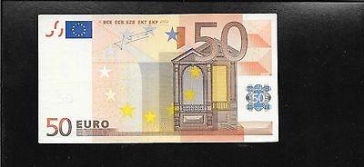 European Union X Germany 50 Euro 2002 note Trichet Sign P-11x