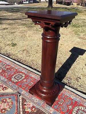 Very Large American Solid Mahogany Pedestal Mint Original Condition