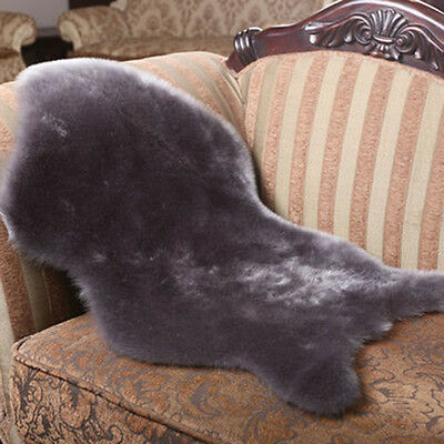 Faux Sheepskin Rugs Chair Cover Pad Fluffy Bedroom Home Decoration