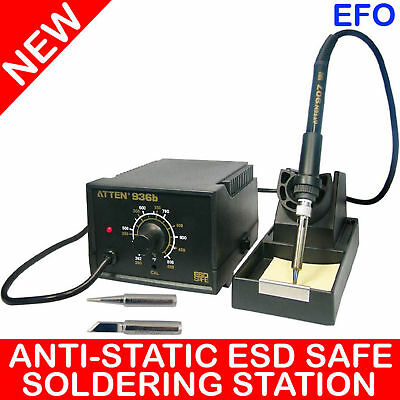 Tni-U Instruments 60W Thermo-Control Anti-Static Soldering Station At936B