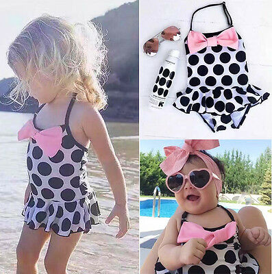 1-7Year Kids Baby Girls Tankini Bikini Swimwear Swimsuit Bathing Suit Beachwear