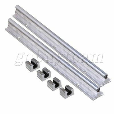 6 Pieces Open Linear Bearing Slide and 10mm Shaft Dia 30cm Linear Bearing Rail