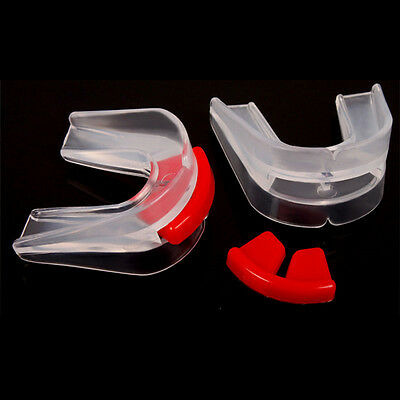 Useful Transparent Double Mouth Guards Protector for Sports Boxing