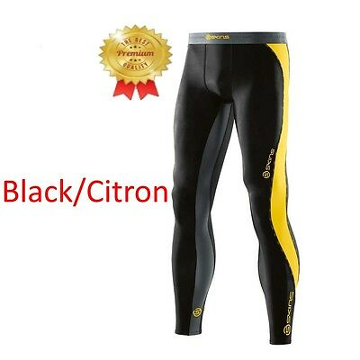 * ALL BRAND NEW * Skins DNAmic Mens Compression Long Tights (Black/Citron)