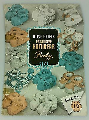 Vintage - Olive Ketels Knitwear For Baby No. 3 - Knitting Pattern Book