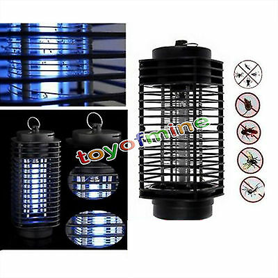 H31 220V Electric Mosquito Fly Bug Insect Zapper Killer With Trap Lamp Black New