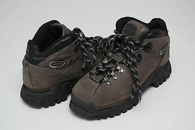 Boys Skechers Boots Walking Shoes Genuine Leather Dark Grey Size Uk 4 Eur 36 Vgc