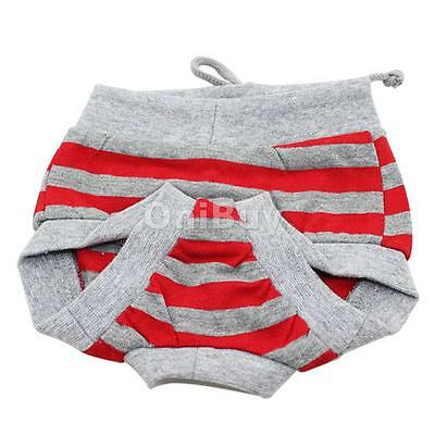 Femme Pet Dog Puppy Diaper Pantalon hygiénique Panty Underwear Red Grey
